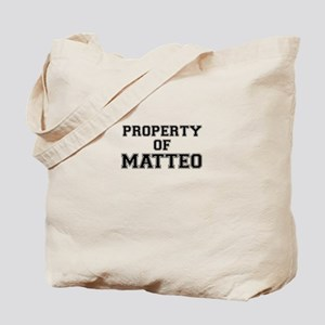 Property of MATTEO Tote Bag