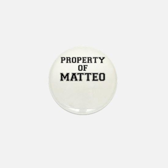 Property of MATTEO Mini Button