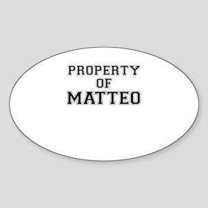Property of MATTEO Sticker
