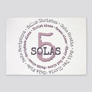 5 Solas Reformed Theology 5'x7'Area Rug