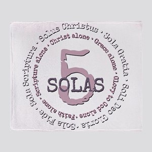 5 Solas Reformed Theology Throw Blanket