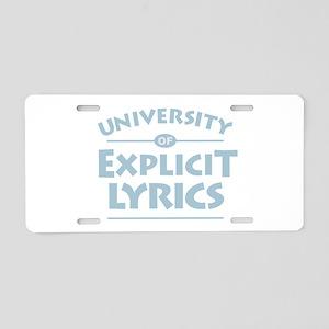Explicit Lyrics Aluminum License Plate