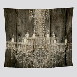 shabby chic rustic chandelier Wall Tapestry