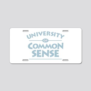 Common Sense Aluminum License Plate