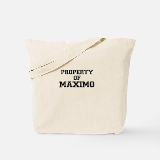Property of MAXIMO Tote Bag