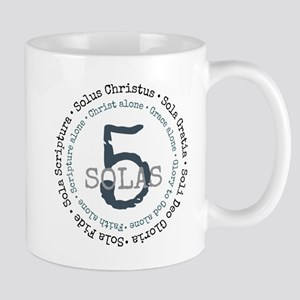 5 Solas Reformed Theology Mugs