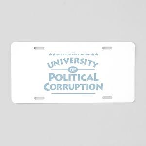 Corruption Aluminum License Plate