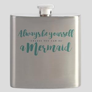 ALWAYS BE A MERMAID Flask
