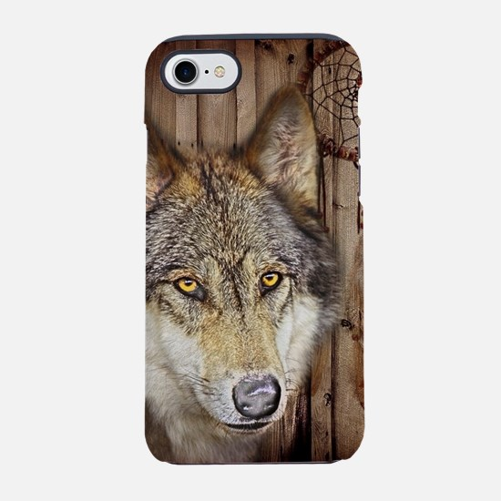 vintage Americana wild wolf iPhone 8/7 Tough Case
