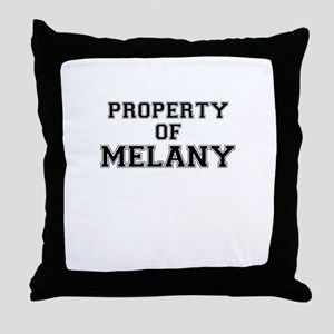 Property of MELANY Throw Pillow