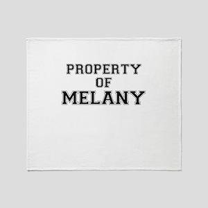 Property of MELANY Throw Blanket