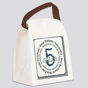 5 Solas of the Reformaion Canvas Lunch Bag