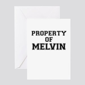 Property of MELVIN Greeting Cards