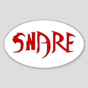 Snarf Oval Sticker