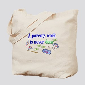 A PARENTS WORK-BASEBALL Tote Bag