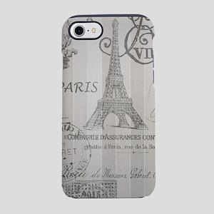 stripes paris Eiffel tower iPhone 8/7 Tough Case