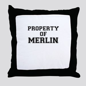 Property of MERLIN Throw Pillow