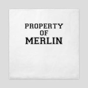 Property of MERLIN Queen Duvet