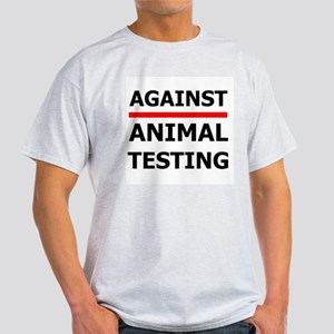 Against Testing by Leah Ash Grey T-Shirt