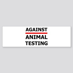 Against Testing by Leah Bumper Sticker