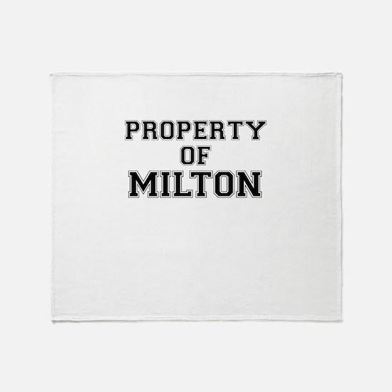 Property of MILTON Throw Blanket