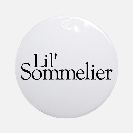Lil' Sommelier Ornament (Round)