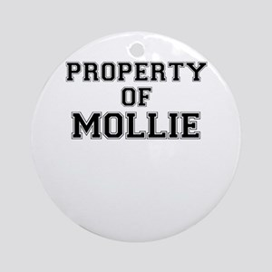 Property of MOLLIE Round Ornament