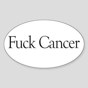Fuck Cancer Oval Sticker
