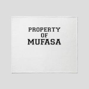 Property of MUFASA Throw Blanket