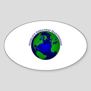World's Greatest Bartender Oval Sticker