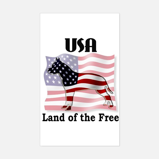 USA-Land of the Free Rectangle Decal