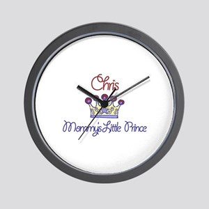 Chris - Mommy's Little Prince Wall Clock