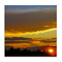 Sunset Sky Tile Coaster
