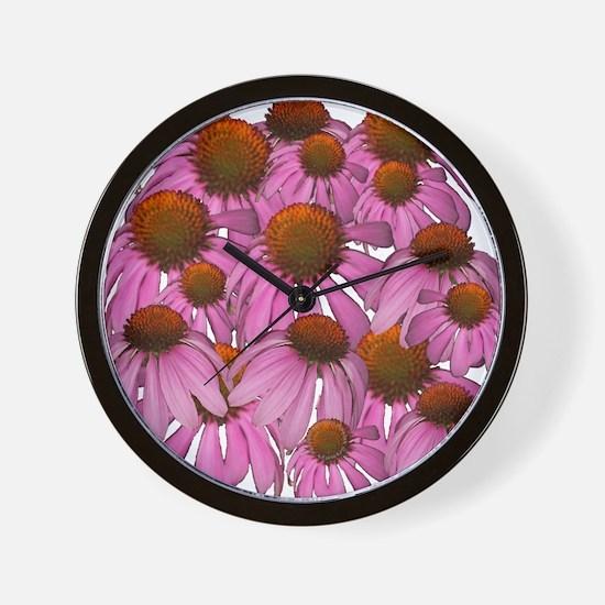 Purple Coneflowers {Echinacea Wall Clock