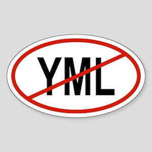 YML Oval Sticker