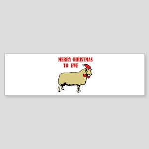 CHRISTMAS EWE Bumper Sticker
