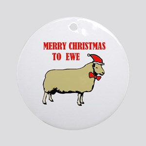 CHRISTMAS EWE Ornament (Round)