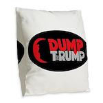 Dump Therump Burlap Throw Pillow