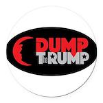 Dump Therump Round Car Magnet