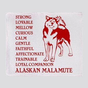 LOYAL MALAMUTE Throw Blanket