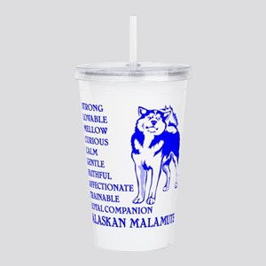 LOYAL MALAMUTE Acrylic Double-wall Tumbler