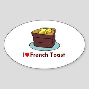 French Toast Oval Sticker