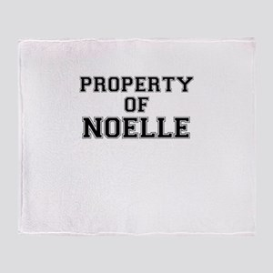 Property of NOELLE Throw Blanket
