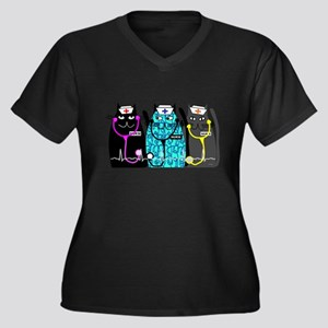 nurse cat NO BACKGROUND Plus Size T-Shirt