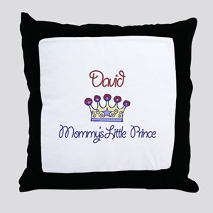 David - Mommy's Little Prince Throw Pillow