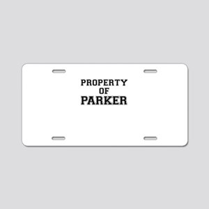 Property of PARKER Aluminum License Plate