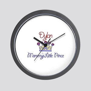 Dylan - Mommy's Little Prince Wall Clock