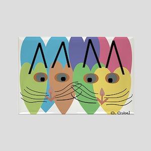 CAT ART Rectangle Magnet