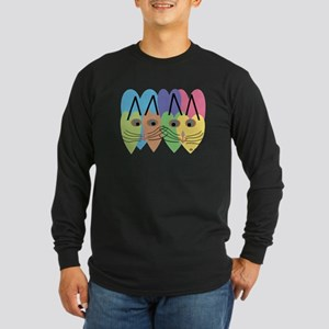 CAT ART Long Sleeve Dark T-Shirt
