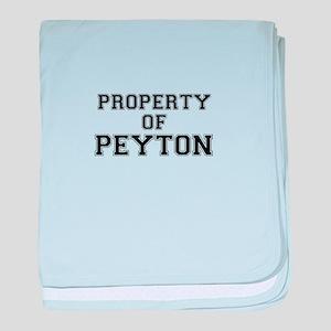 Property of PEYTON baby blanket